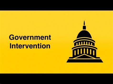 Government intervention market failure essay